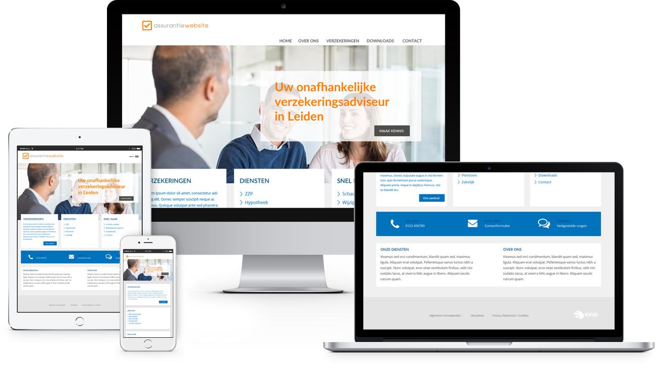 Assurantiewebsite, een complete en interactieve website voor assurantietussenpersonen. Uw bezoekers kunnen informatie kunnen vinden over verzekeringen en hypotheken. Een website die altijd up-to-date is.